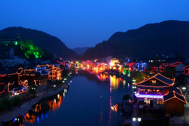 China night. This is the night of china royalty free stock images
