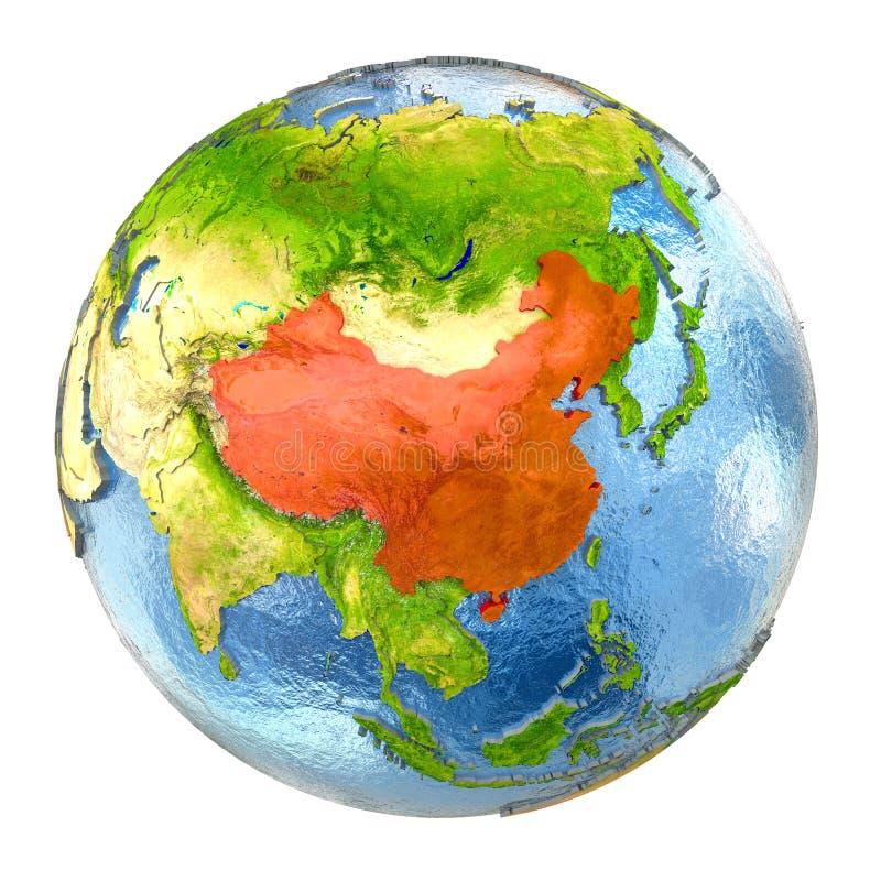 China no vermelho na terra completa ilustração royalty free