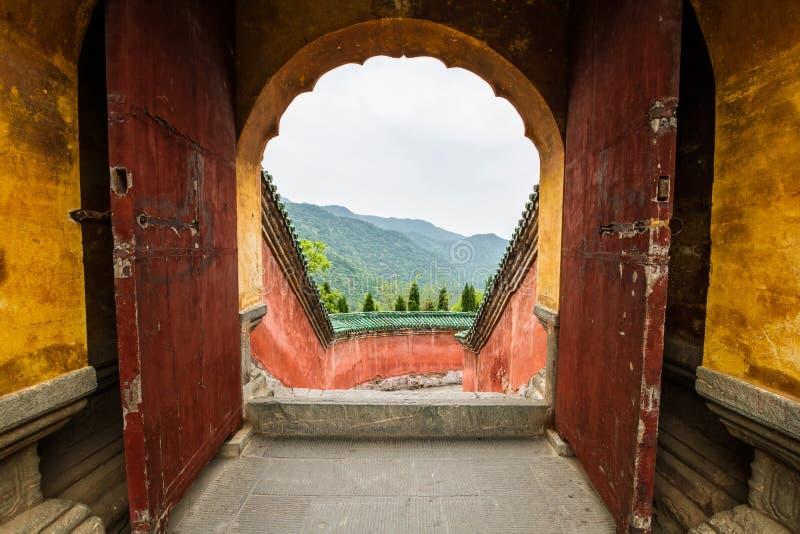 China, o monastério de Wudang, templo de Fu Zhen foto de stock