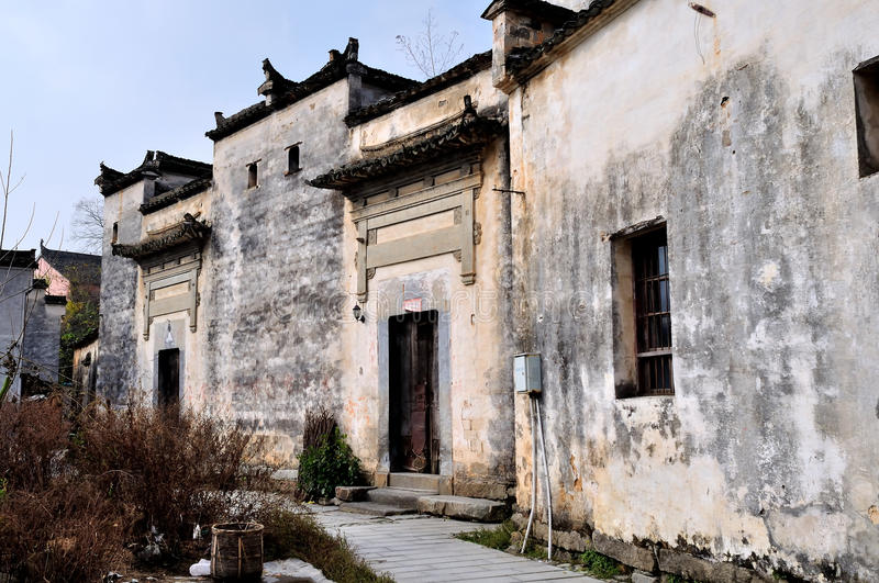 China old house. Here is the pingshan village, located in yixian county in anhui province in China, and the world cultural heritage site hong cun neighbors stock photos