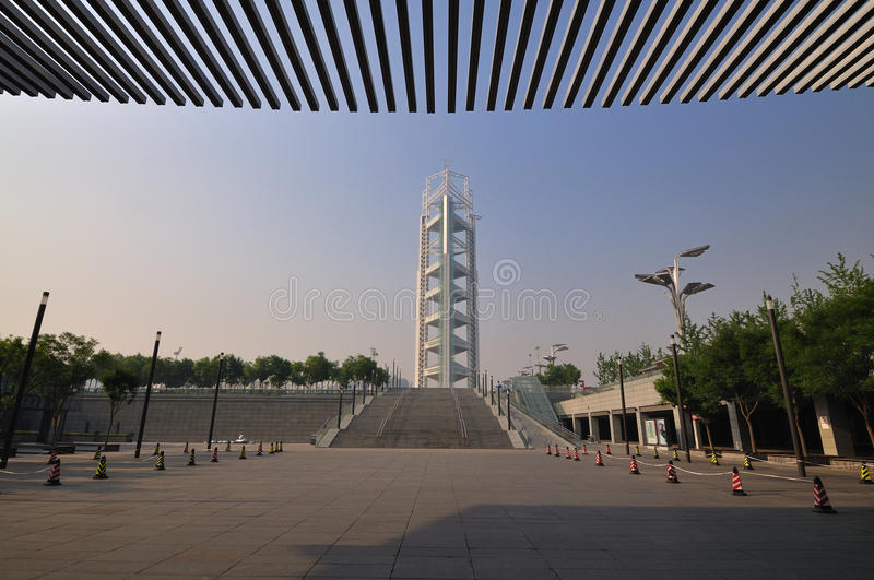 China Olympic Park in Beijing. Olympic Park is the Beijing 2008 Olympic Games main venues , with : Asia's largest artificial water system in urban areas , Asia's stock photo