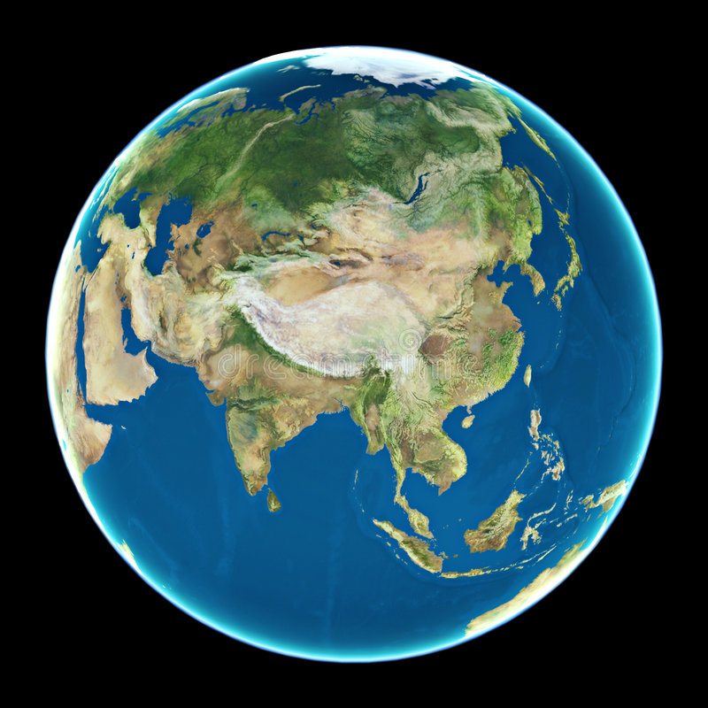 China op aarde royalty-vrije illustratie