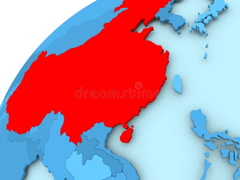 China op blauwe bol vector illustratie