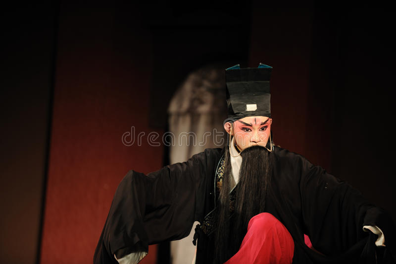 China opera actor. With long black beard stock photography