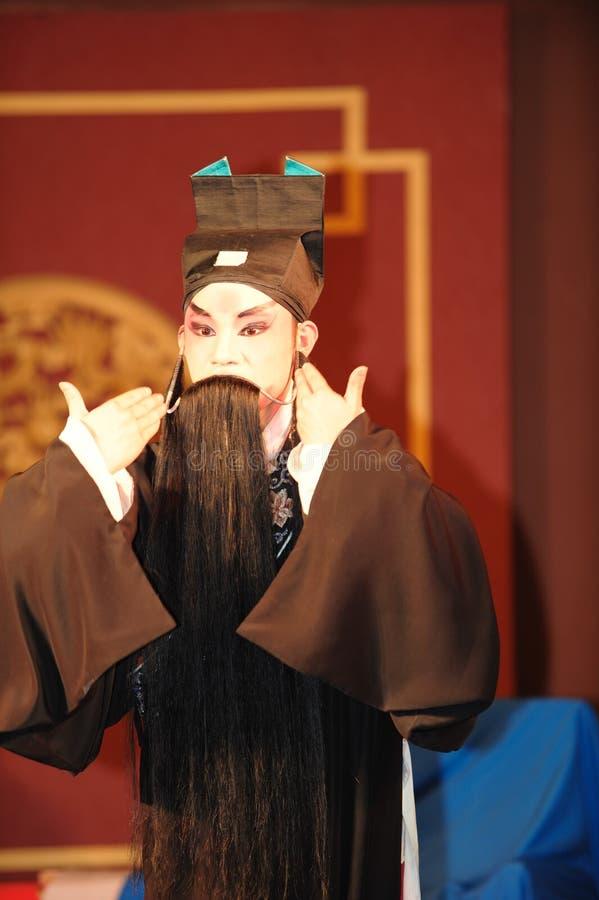 China opera actor. With long black beard royalty free stock photos