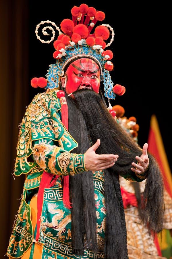 China opera man red face royalty free stock image
