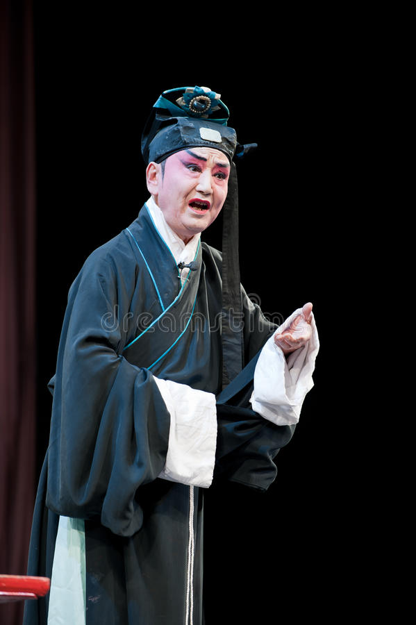 China opera Scholar with hat stock images