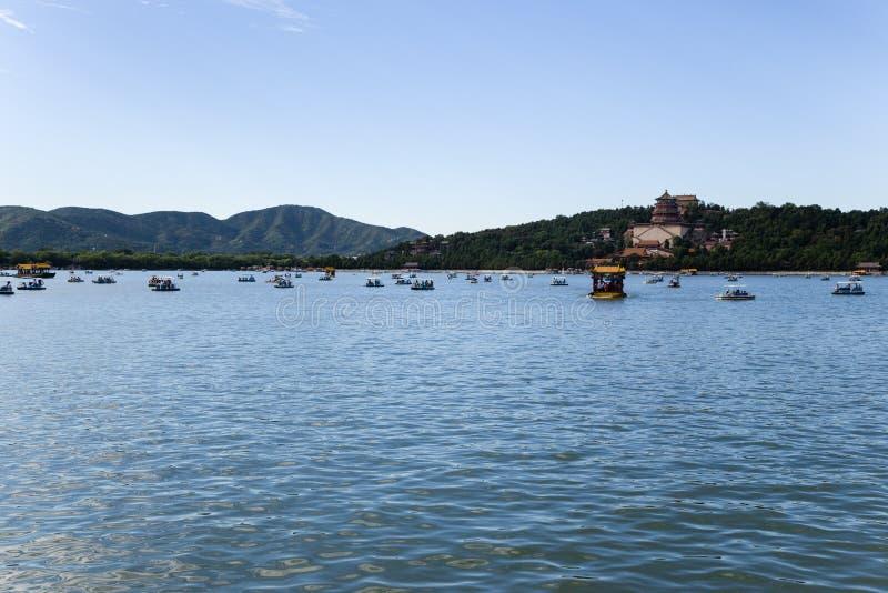 China, Pekín Palacio de verano Vista de la colina del lago y de la longevidad kunming fotos de archivo libres de regalías