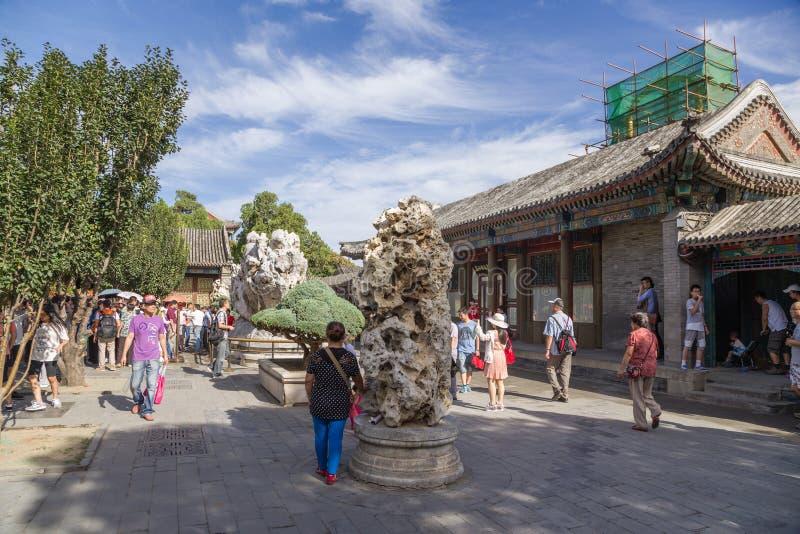 China, Pekín Palacio de verano Vista a uno de los patios de la parte residencial foto de archivo libre de regalías