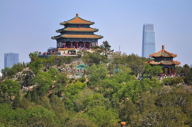 China Peking Stadtbild-Jingshan Park stockfotos