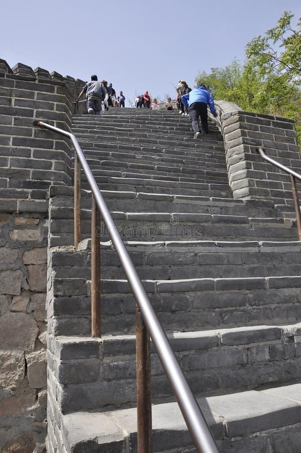 China, 6a pode: Escadas chinesas do Grande Muralha na passagem de Juyongguan imagens de stock royalty free