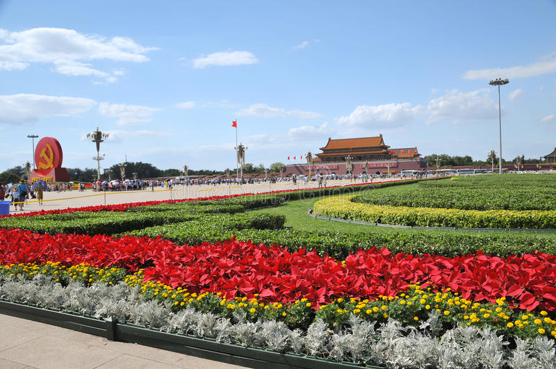 Download China Is Preparing For The 90th On Tiananmen Editorial Stock Image - Image: 20285184