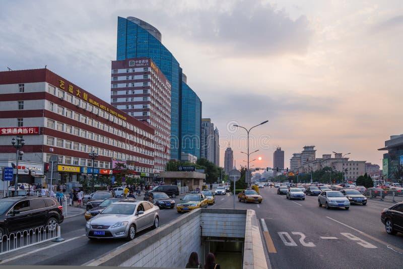 China Puesta del sol en Pekín foto de archivo libre de regalías