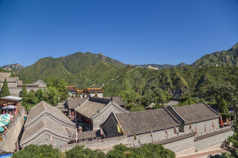 China Puesto avanzado Juyongguan y su Gran Muralla circundante de China foto de archivo libre de regalías