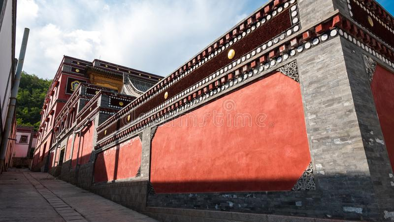 China Qinghai Xining Tar Temple scenery. On travel royalty free stock image