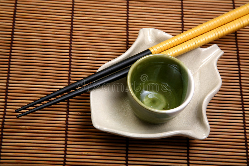 China que janta a placa imagens de stock