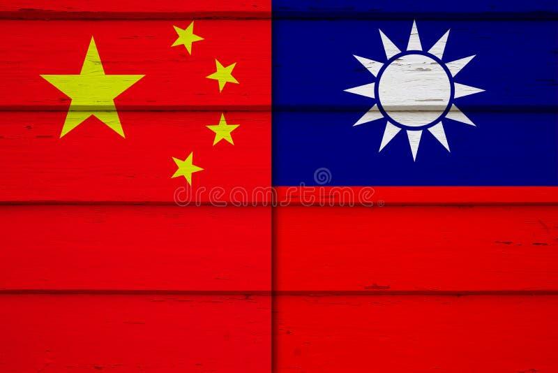 China que ramping acima a pressão em Taiwan imagens de stock royalty free