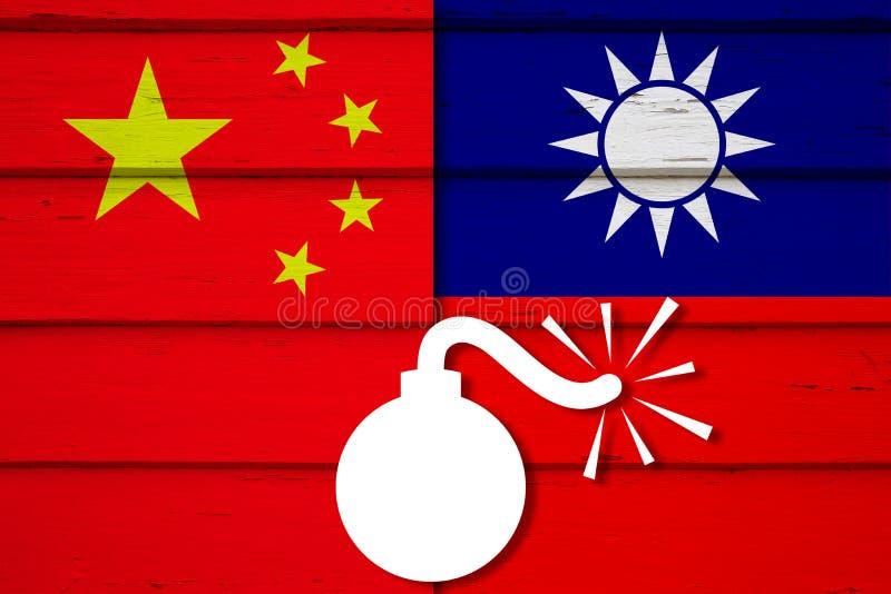 China que ramping acima a pressão em Taiwan imagem de stock
