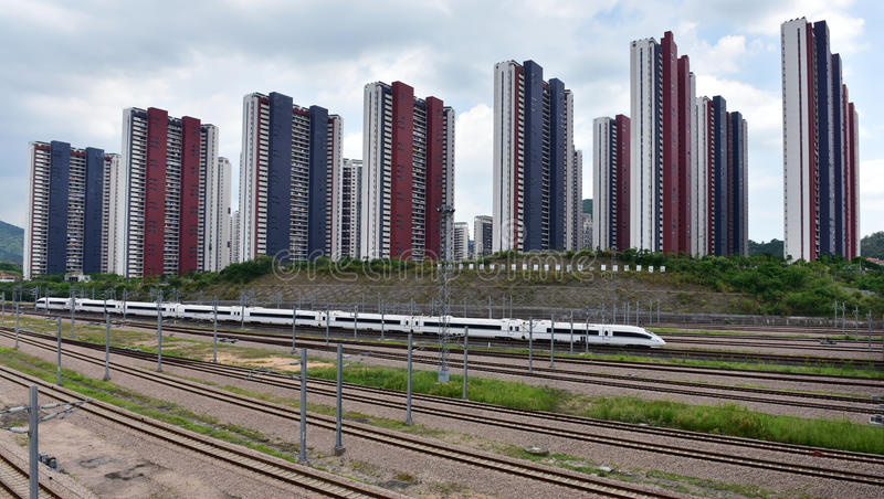 China Railway High-speed and real estate stock images
