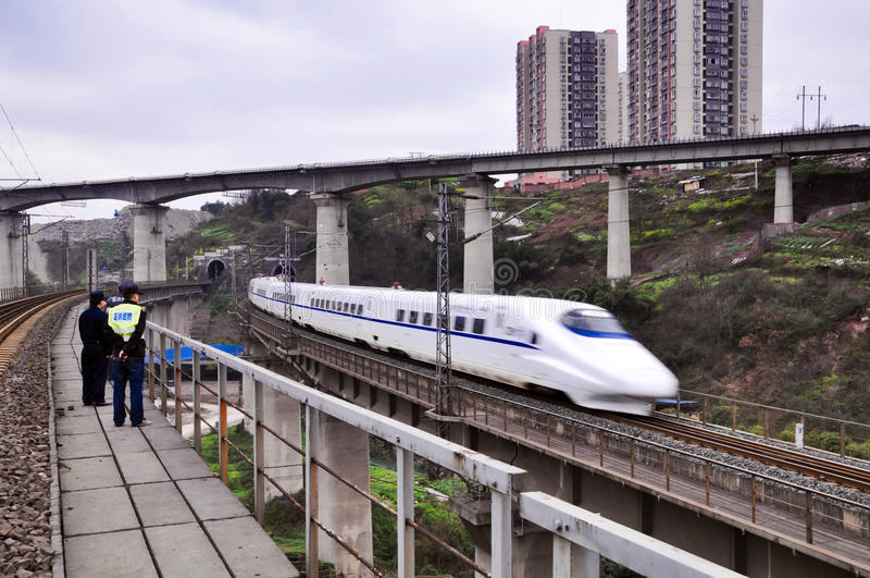 China Railway High Speed Train royalty free stock images