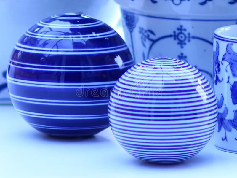 China rayada azul y blanca fotos de archivo