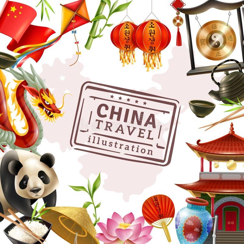 China-Reise-Rahmen-Hintergrund Vektor Abbildung - Illustration von ...