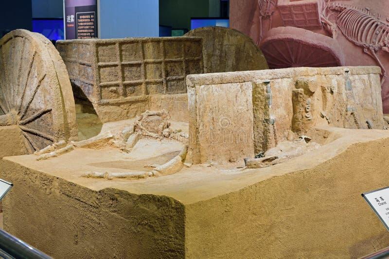 China-reliquias de Chengdu desenterradas: Carro imagen de archivo libre de regalías