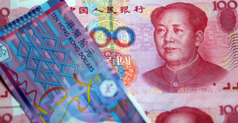 China RMB En De Dollar Van Hongkong Stock Foto