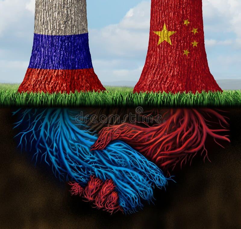 China Russia Agreement stock illustration