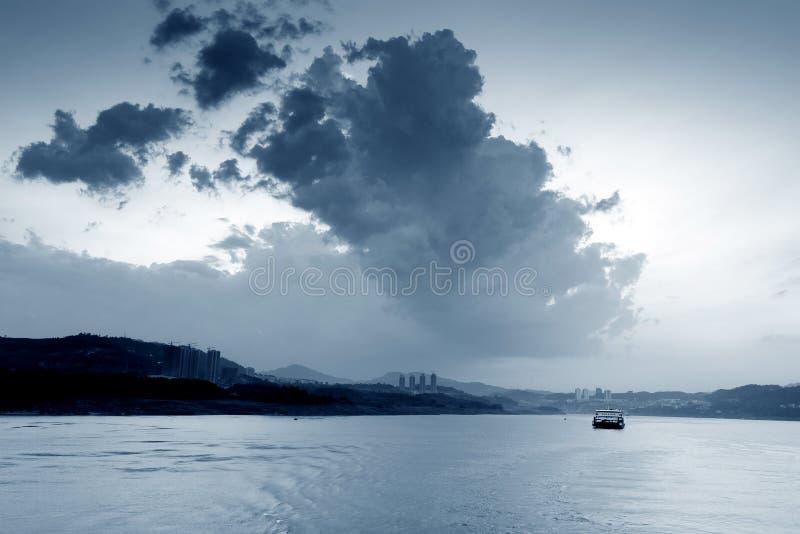 China& x27; s最大的河:扬子 图库摄影