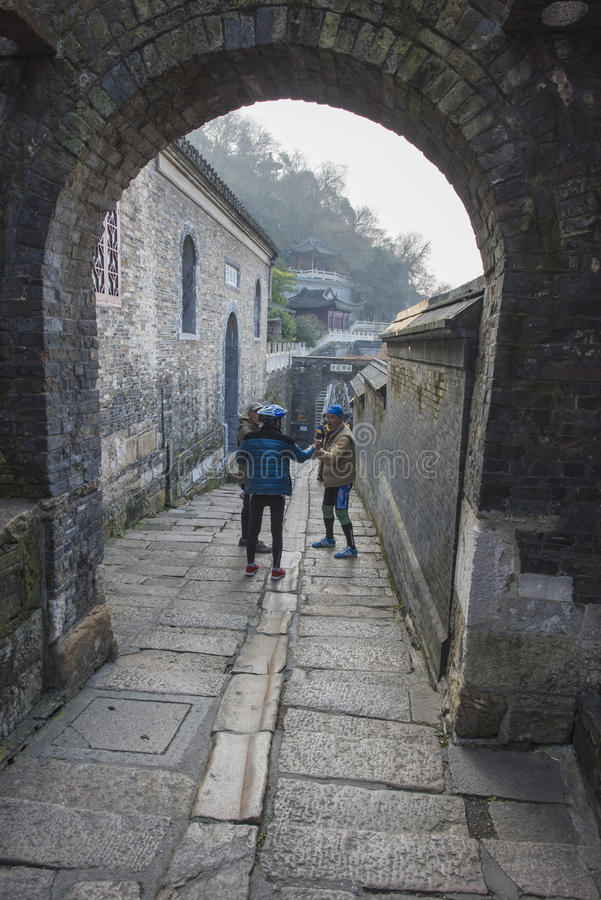 China`s ancient town one scene. China xinjin ancient ferry, zhenjiang city, jiangsu province has a history of several hundred years, the corner of the picture stock image