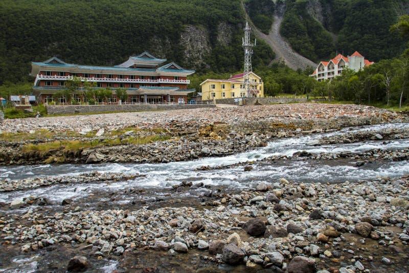 China`s changbai mountain hot springs, spring water. stock image