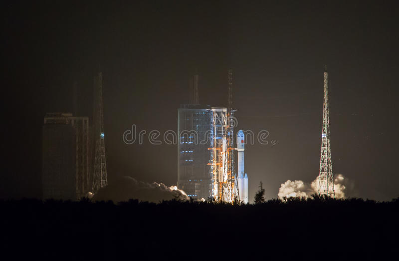 China's Changzheng space Rocket CZ-7 royalty free stock image