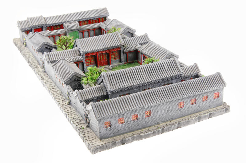 China's courtyard model stock image