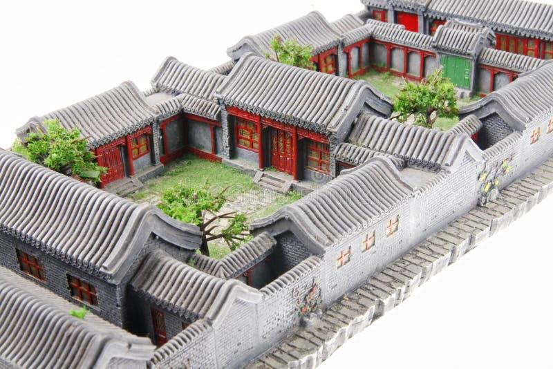 China's courtyard model stock photos
