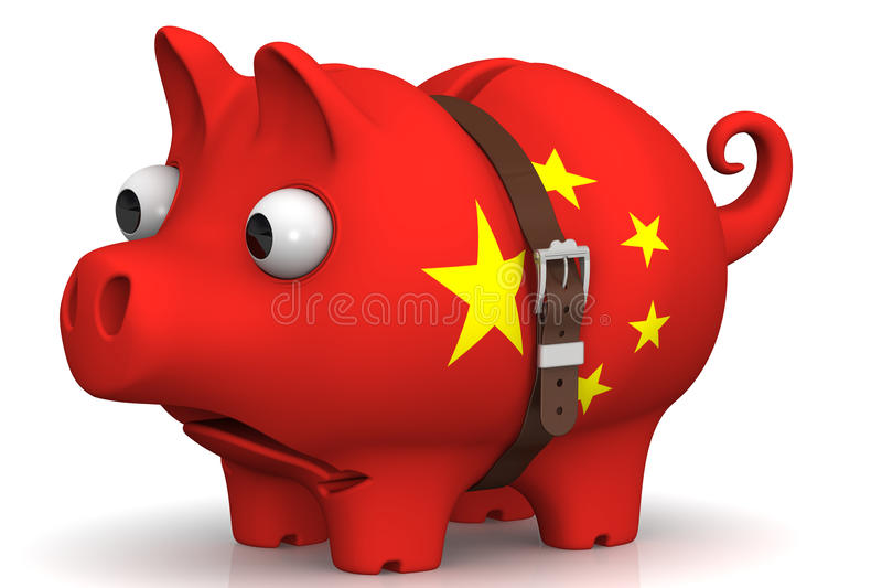 China's economic crisis. Concept royalty free illustration