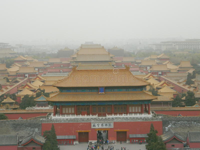 China's Forbidden City stock photography