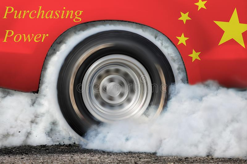 China`s growing economy stock image