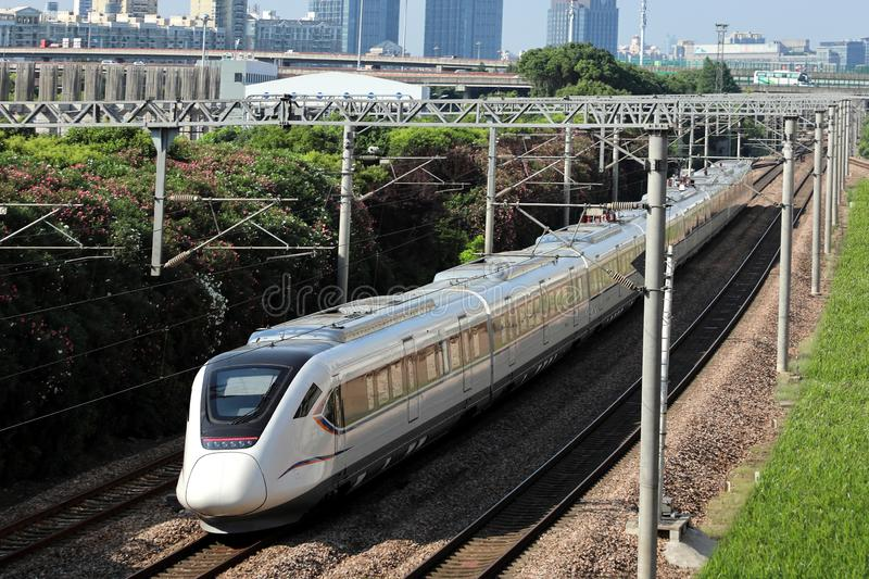China`s high-speed train royalty free stock images