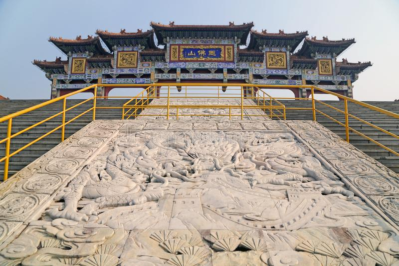China`s liaoning province anshan jade foshan scenic spot. China liaoning province anshan jade foshan scenic spot as the world`s largest jade Buddha is located royalty free stock images