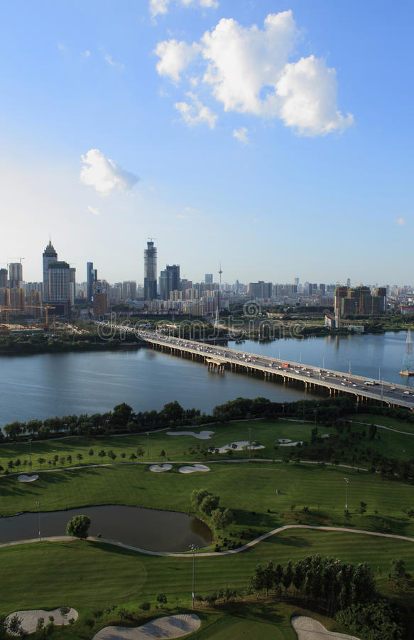China's liaoning province shenyang city construction. Shenyang is the capital city of liaoning in China, located in the northeast, is also the largest city in royalty free stock image