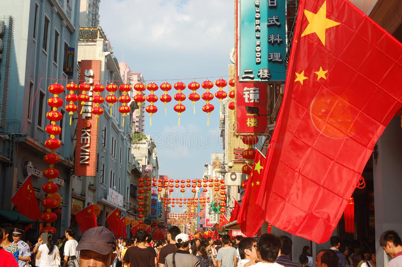 Download China's National Day Celebration Editorial Stock Image - Image of prosperous, young: 11163829
