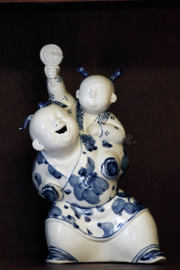 China's porcelain people stock images