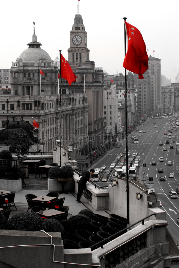 Free China S Red Flags Royalty Free Stock Photography - 3454907