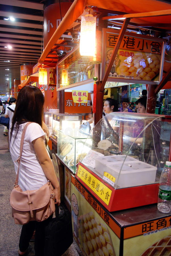 Download China's snack bar editorial photo. Image of girl, shenzhen - 20381921