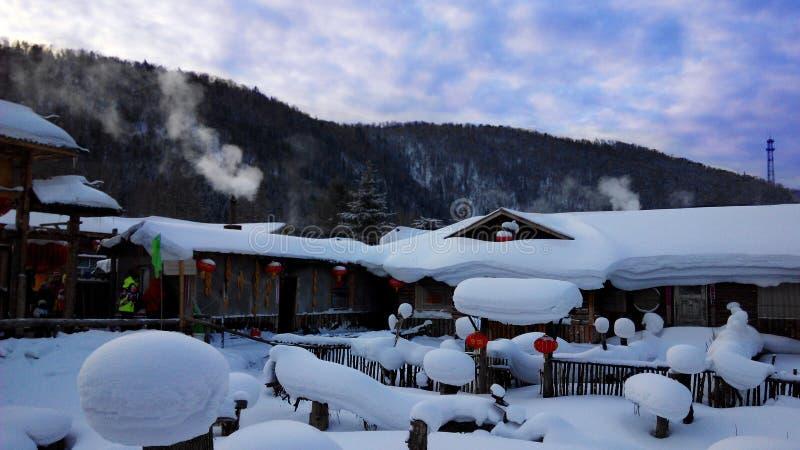 China-Schnee-Stadt lizenzfreies stockfoto