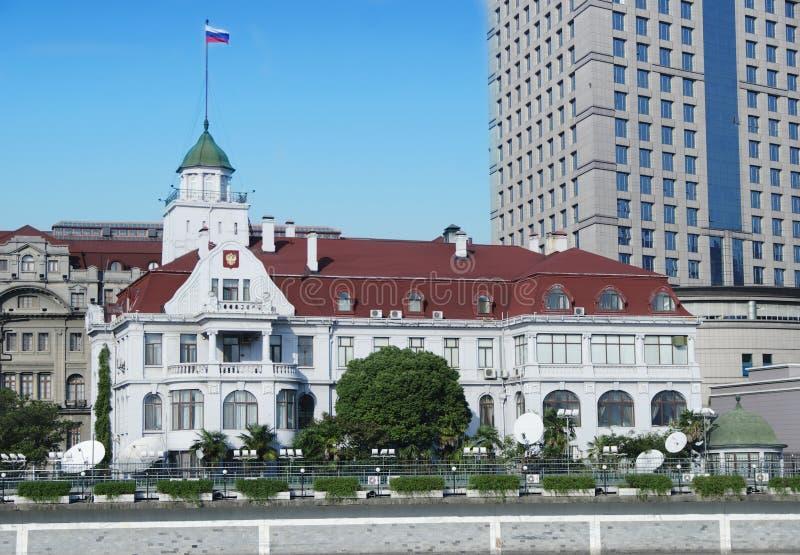 China Shangai el consulado ruso fotos de archivo libres de regalías
