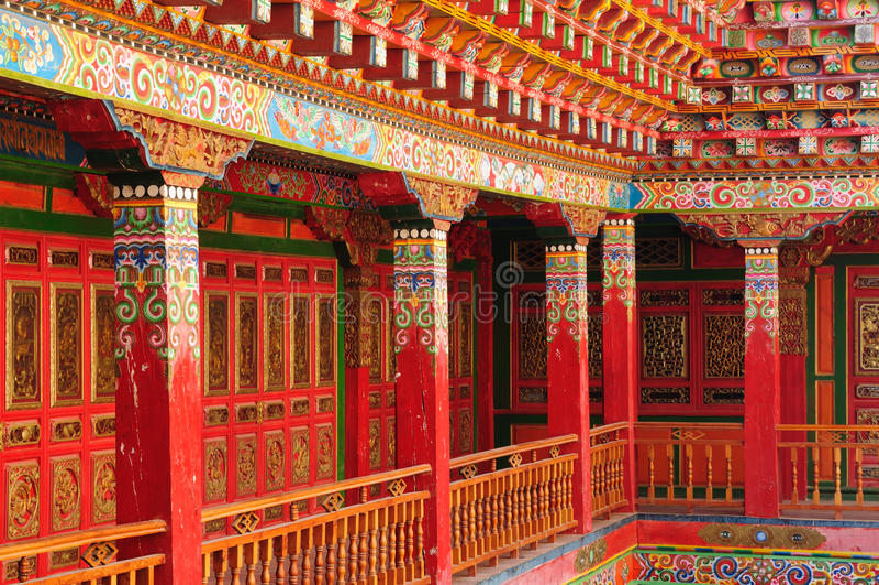 China - Shangri-La. Shangri-La - Gandan Sumtseling Gompa (Songzanlin Monastery), a 300 year old Tibetan monastery complex China. Yunnan province stock photo