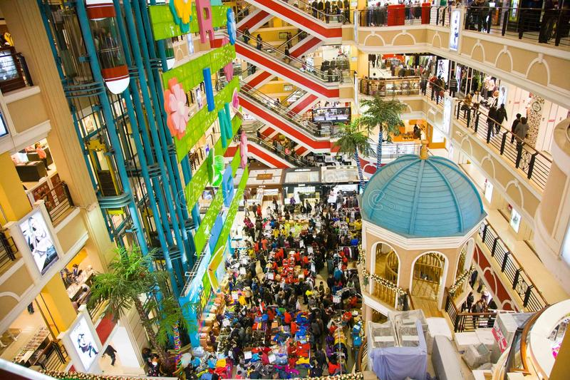 China shopping in Harbin royalty free stock photo