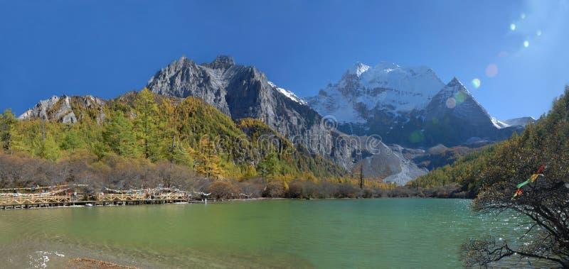 China/sichuan: lago da pérola em Inagi Aden fotos de stock royalty free